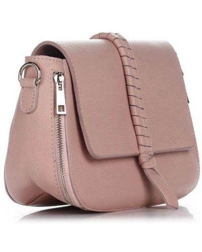 Кожаная сумка - розовая Amelie Pelletteria