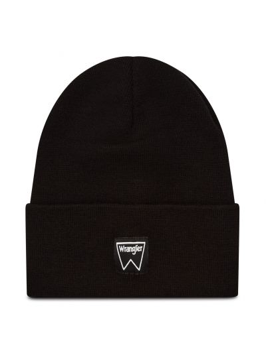 Czarna czapka beanie z akrylu Wrangler