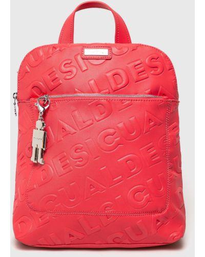 Кожаный рюкзак розовый Desigual
