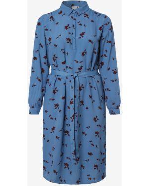 Niebieska sukienka z paskiem Junarose