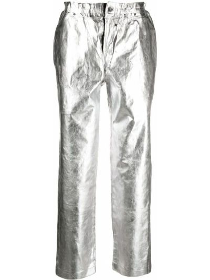 Spodnie z paskiem srebrne Comme Des Garcons Homme Plus