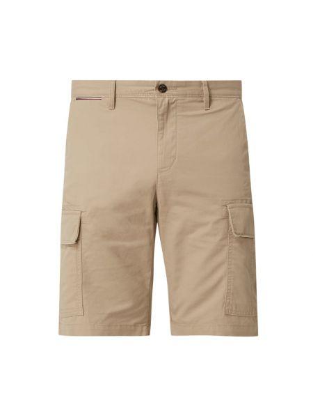 Beżowe szorty cargo bawełniane Tommy Hilfiger