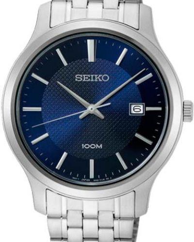 Часы водонепроницаемые синий серебряный Seiko