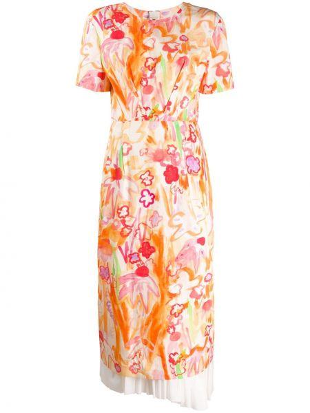Платье мини миди с цветочным принтом Marni
