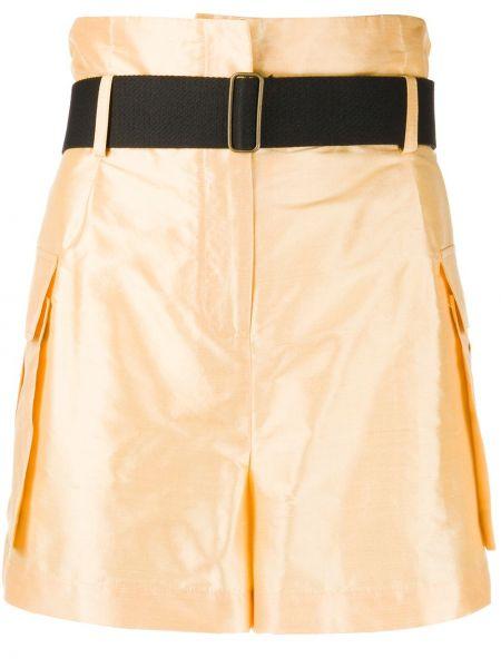 Однобортные шорты с карманами Erika Cavallini