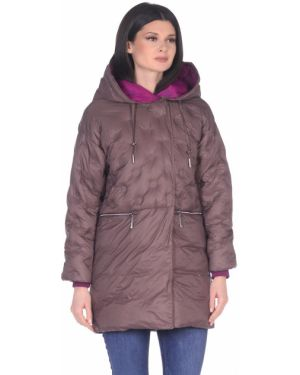 Куртка с капюшоном длинная в горошек D`imma Fashion Studio