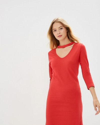 Красное платье с длинными рукавами Brave Soul