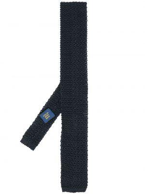 Трикотажный синий вязаный галстук Polo Ralph Lauren