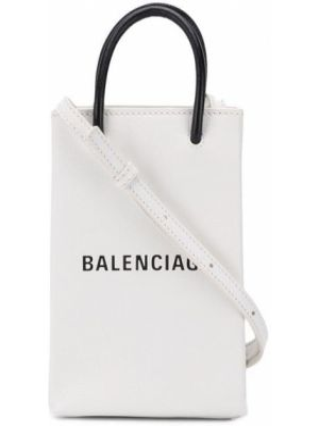 Кожаная сумка шоппер - белая Balenciaga