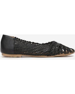 Czarne balerinki materiałowe Multu