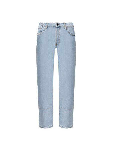 Прямые джинсы укороченные с манжетами Marni
