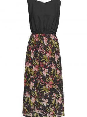 Платье макси - черное Bonprix
