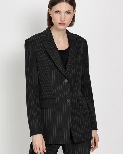 Повседневный приталенный черный пиджак Vassa&co