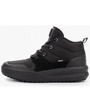 Высокие кроссовки черные из искусственной кожи Termit
