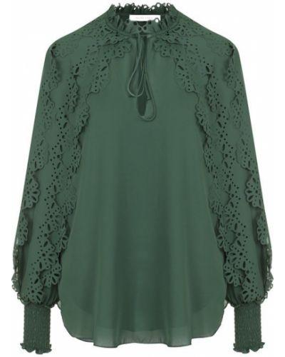 Блузка с воротником-стойкой с рюшами See By Chloé