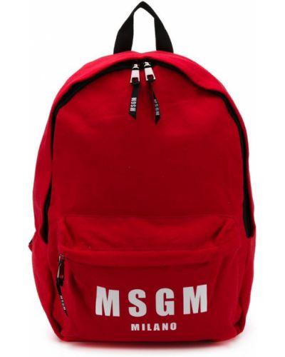 Рюкзак красный Msgm Kids