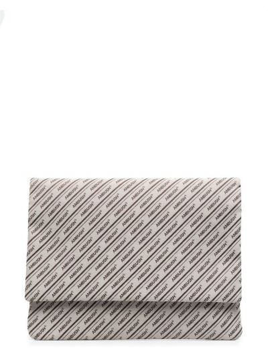 Beżowa torba na laptopa z printem Ambush
