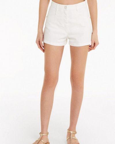 Белые джинсовые шорты Patrizia Pepe