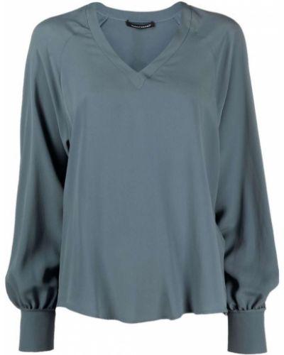 Синяя шелковая блузка Luisa Cerano