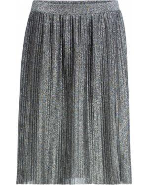 Плиссированная юбка в складку с поясом Bonprix