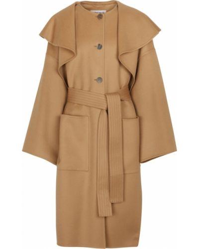 Коричневое пальто без рукавов Loewe
