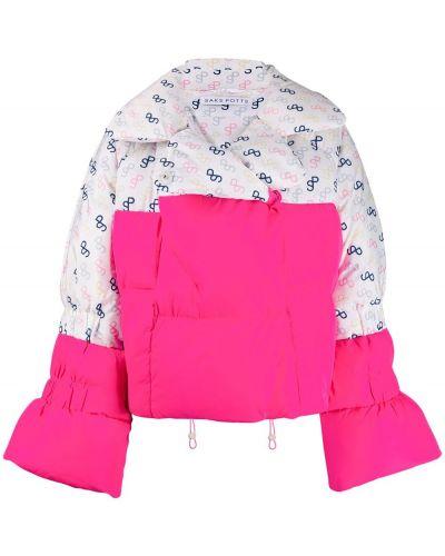 Розовая длинная куртка Saks Potts