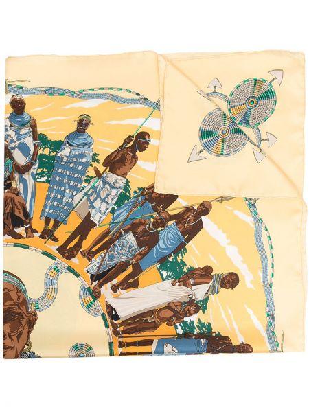 Желтый шелковый платок Hermes
