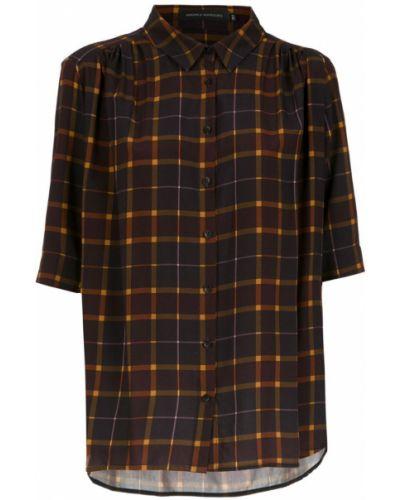 Классическая рубашка в клетку с коротким рукавом Andrea Marques