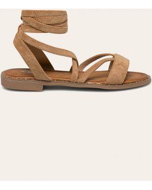 Sandały zamsz piasek Answear