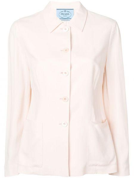 Розовый пиджак с манжетами Prada Pre-owned