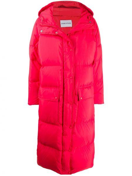 Пальто с капюшоном оверсайз на молнии Stand Studio