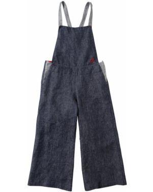 Синий джинсовый комбинезон Emporio Armani