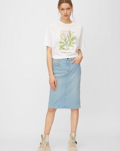 Niebieska spódnica bawełniana Marc O Polo