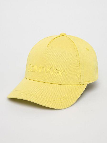 Хлопковая кепка - желтая Calvin Klein