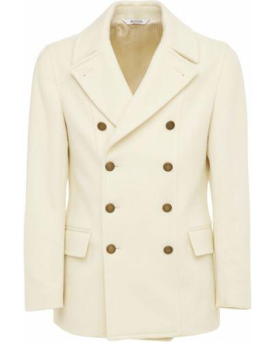 Biały z kaszmiru płaszcz Bottega Martinese