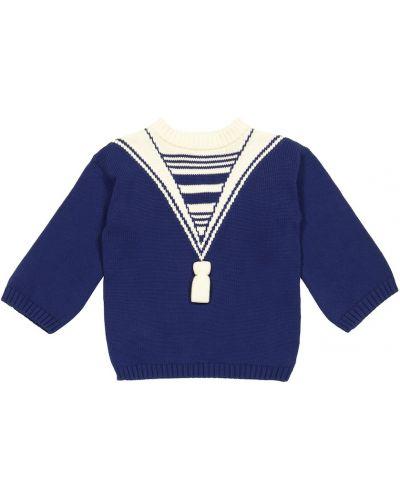Bawełna bawełna niebieski sweter styl morski Gucci Kids