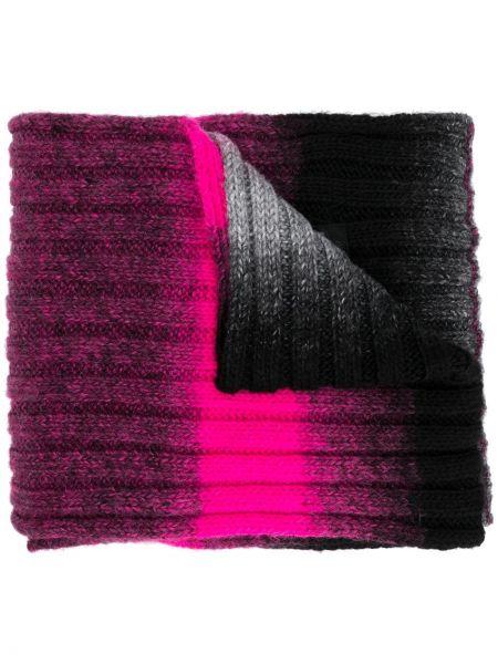Prążkowany różowy szalik wełniany Msgm