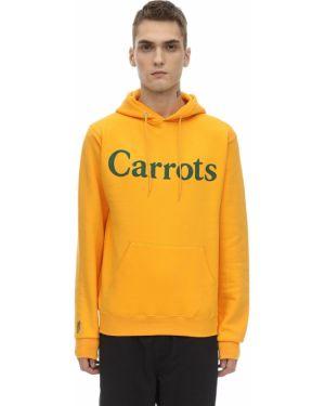 Żółta bluza z kapturem z haftem Carrots X Jungle