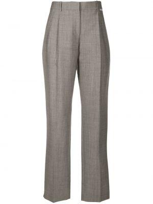 Pofałdowany spodni wełniany spodnie z paskiem Alexander Wang