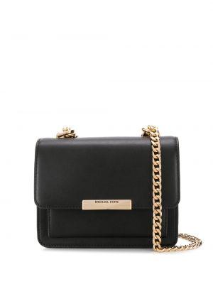 С ремешком черная сумка на цепочке из натуральной кожи Michael Michael Kors