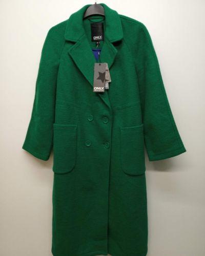 Шерстяное пальто - зеленое Only