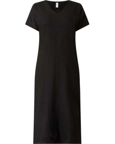 Czarna sukienka mini rozkloszowana z wiskozy Soyaconcept