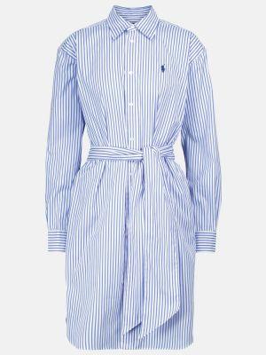 Klasyczna biała sukienka bawełniana Polo Ralph Lauren