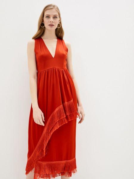 Повседневное платье красный весеннее Lautre Chose