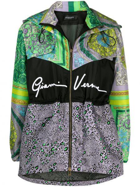 С рукавами куртка на молнии с капюшоном Versace