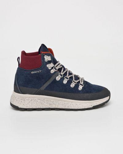 Ботинки на шнуровке кожаные высокие Gant