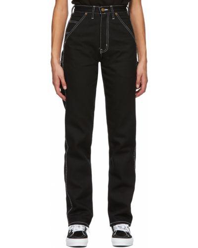 Czarne jeansy z paskiem srebrne Noon Goons