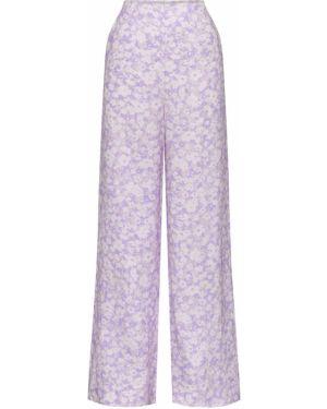 Фиолетовые льняные брюки Peony