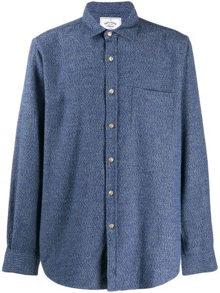 Синяя классическая фланелевая классическая рубашка с воротником Portuguese Flannel