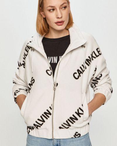 Biała kurtka jeansowa z kapturem Calvin Klein Jeans